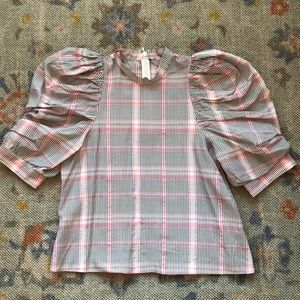 & Other Stories plaid top sz 4